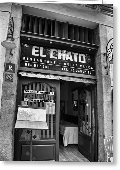El Chato In Mono Greeting Card by Georgia Fowler