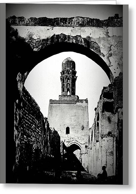 Frith Greeting Cards - El Hakim Mosque Cairo 1858 Francis Frith Greeting Card by Peter Gumaer Ogden Gallery