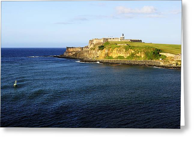 Castillo San Felipe Greeting Cards - El Morro Greeting Card by Luke Moore