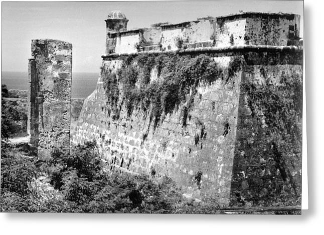 Santiago Cuba Greeting Cards - El Morro Ruins Greeting Card by Samuel Epperly