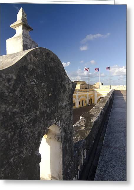 El Morro Greeting Cards - El Morro Upper Level Greeting Card by Sven Brogren
