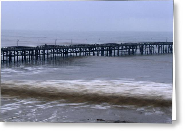 El Nino - Ventura Pier California Greeting Card by Soli Deo Gloria Wilderness And Wildlife Photography