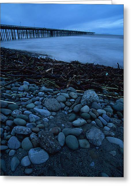 El Nino - Ventura Pier Greeting Card by Soli Deo Gloria Wilderness And Wildlife Photography