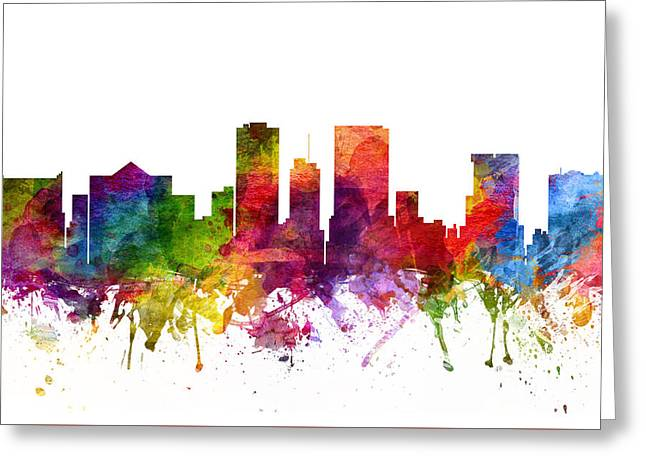 El Greeting Cards - El Paso Cityscape 06 Greeting Card by Aged Pixel