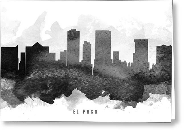 El Greeting Cards - El Paso Cityscape 11 Greeting Card by Aged Pixel