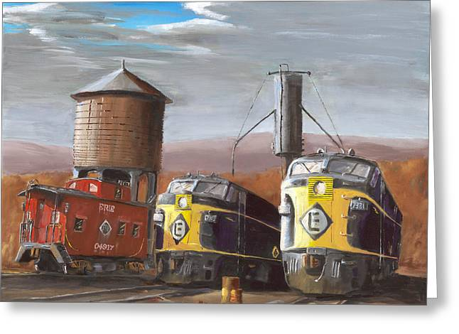 Caboose Greeting Cards - EL Power Greeting Card by Christopher Jenkins