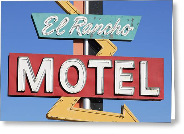 El Rancho Motel Stockton CA Greeting Card by Troy Montemayor