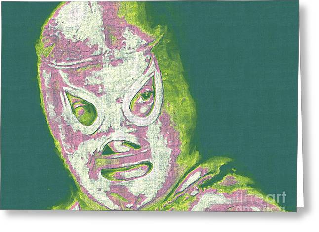 Wwf Greeting Cards - El Santo The Masked Wrestler 20130218v2m80 Greeting Card by Wingsdomain Art and Photography