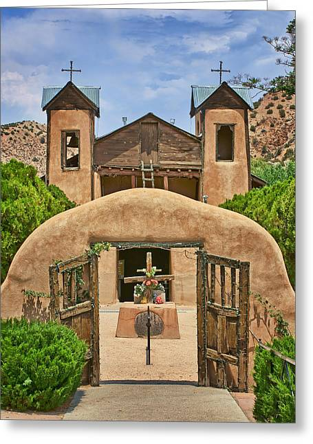 New Mexican Greeting Cards - El Santuario de Chimayo #2 Greeting Card by Nikolyn McDonald