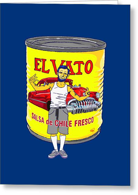 El Vato - Abe Greeting Card by Armando Padilla