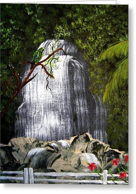 El Yunque  Greeting Card by Gloria E Barreto-Rodriguez