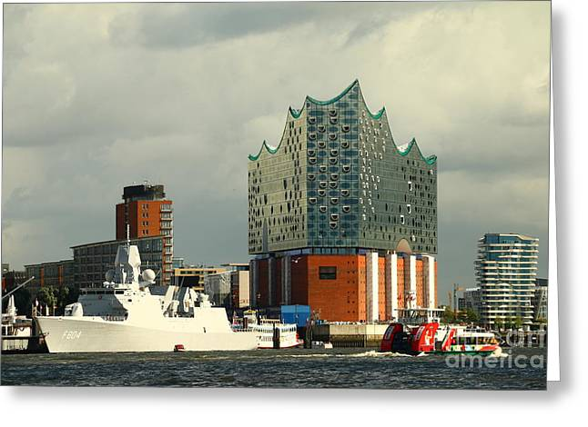 Elbphilharmonie Hamburg Greeting Card by Christiane Schulze Art And Photography