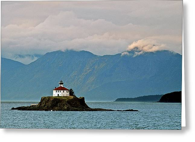 Alaskan Architecture Greeting Cards - Eldred Rock Lighthouse Skagway Greeting Card by Michael Peychich