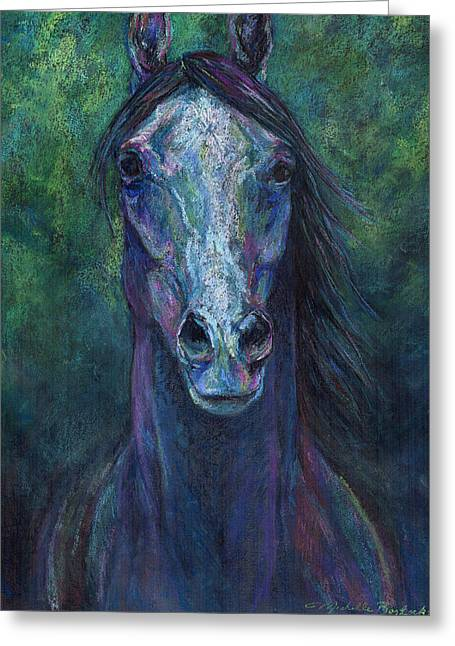 Michelle Pastels Greeting Cards - Eldritch Greeting Card by Michelle Bostock