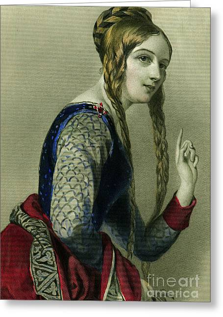 Eleanor Of Aquitaine, Queen Of Henry II Greeting Card by English School