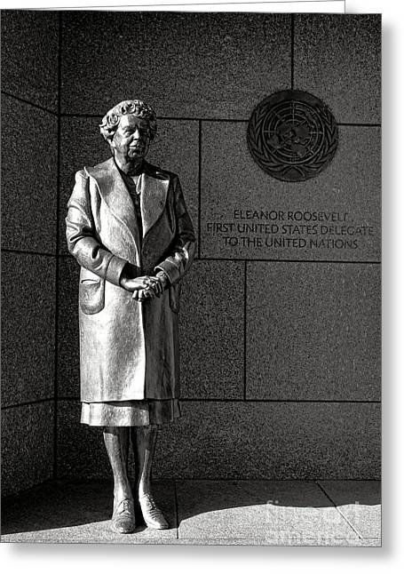 Eleanor Roosevelt Sculpture  Greeting Card by Olivier Le Queinec
