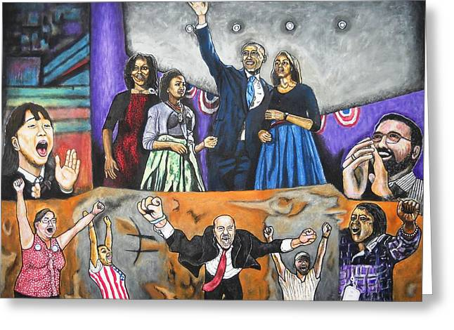 Presidential Election 2012 Greeting Card by Koffi Mbairamadji