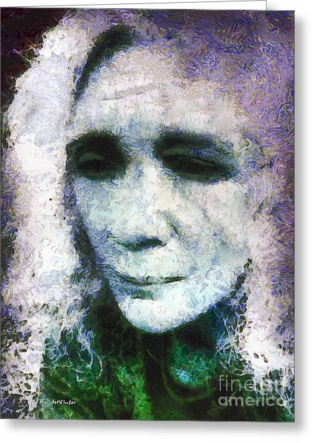 Self-portrait Greeting Cards - Electra Greeting Card by RC deWinter