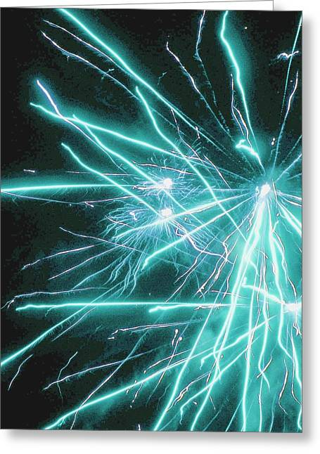 4th July Greeting Cards - Electric Blue Greeting Card by Katie Beougher