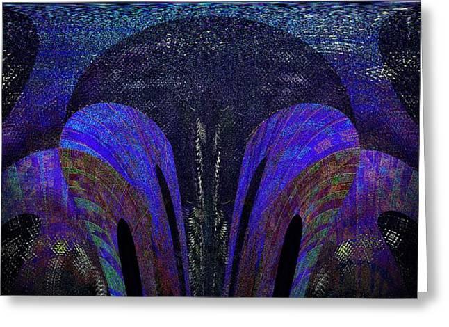 Modern Digital Art Digital Art Greeting Cards - Electric Blues Greeting Card by Joshua Moore