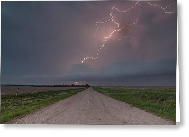 Photography Lightning Digital Greeting Cards - Electric Greeting Card by Brendon Gilchrist