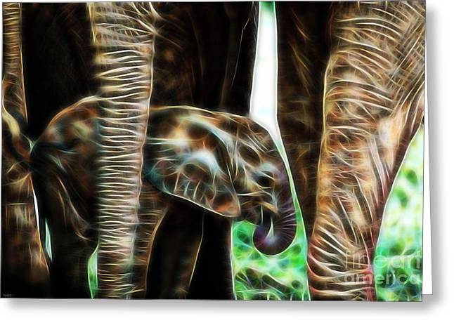 Pop Mixed Media Greeting Cards - Electric Elephant Wall Art Collection Greeting Card by Marvin Blaine