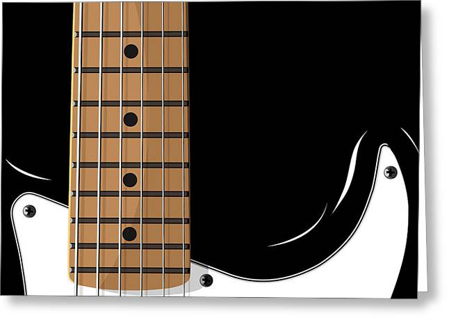 Electric Guitar Greeting Card by Michael Tompsett