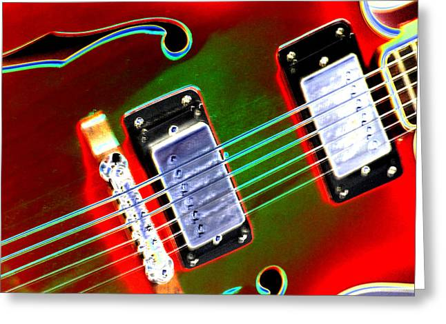 Guitar Stings Greeting Cards - Electric Guitar Greeting Card by Peter  McIntosh