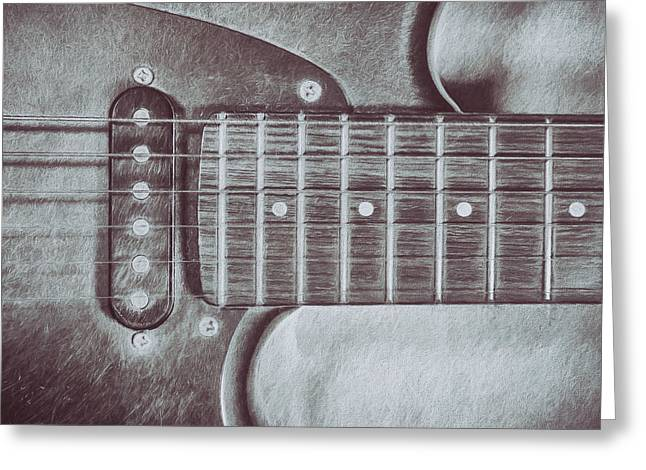 Electric Guitar Greeting Card by Scott Norris