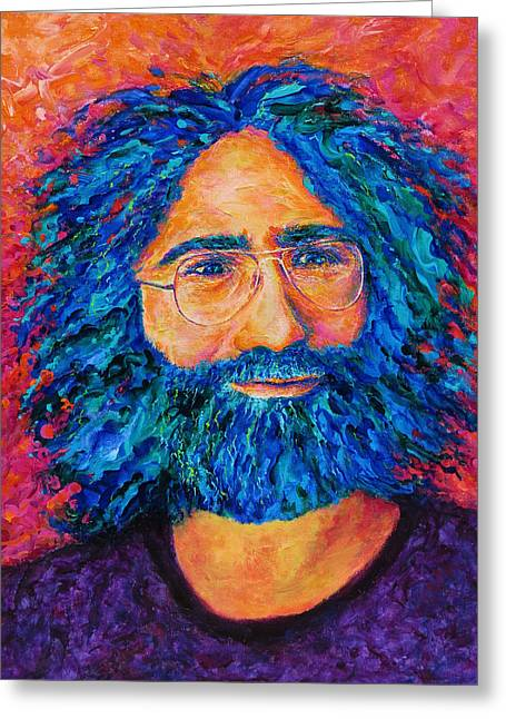 Electric Jerry Greeting Card by Julie Turner