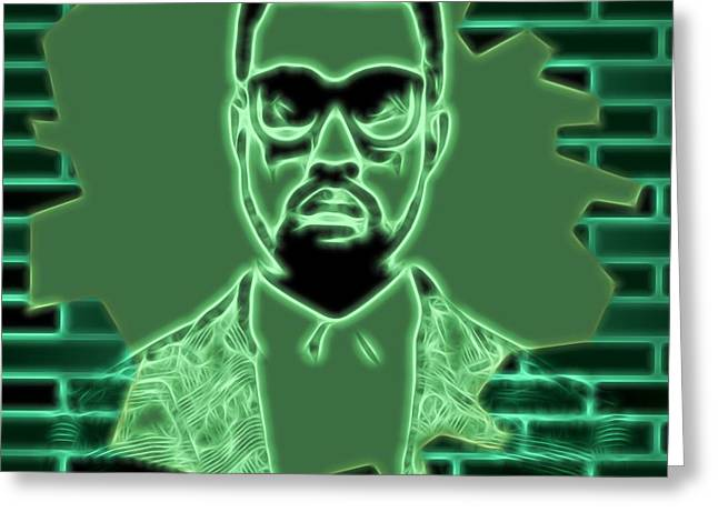 Electric Kanye West Graphic Greeting Card by Dan Sproul