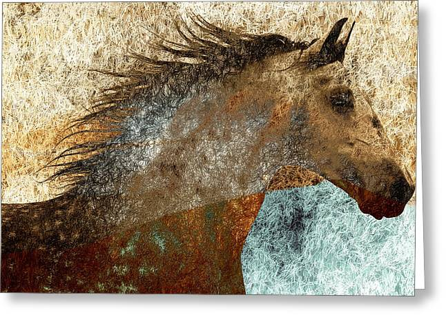 Equine Photo Greeting Cards - Electric Mane Greeting Card by Nick Sokoloff
