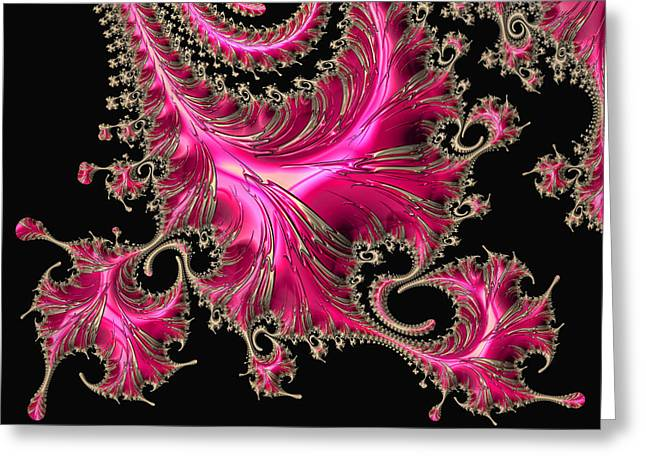 Abstract Geometric Greeting Cards - Electric Pink Greeting Card by HH Photography