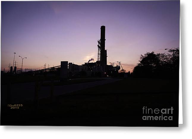 Power Plants Greeting Cards - Electric Power Plant Chester Virginia  Greeting Card by Melissa Messick
