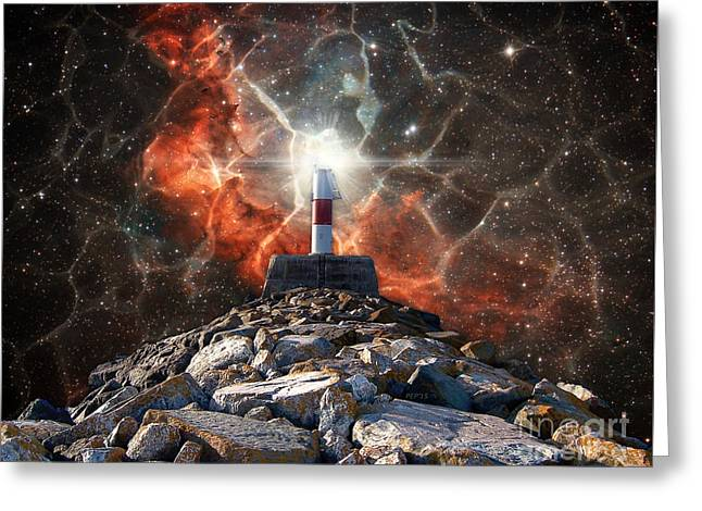 Science Greeting Cards - Electric Space Lights Greeting Card by Phil Perkins