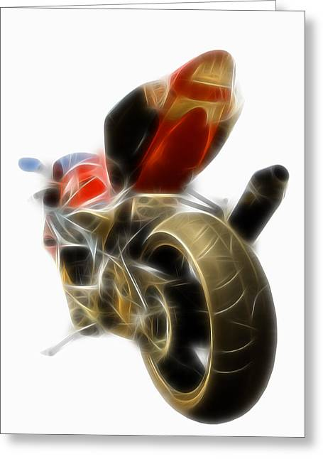 Superbikes Greeting Cards - Electric Speed Greeting Card by Ricky Barnard