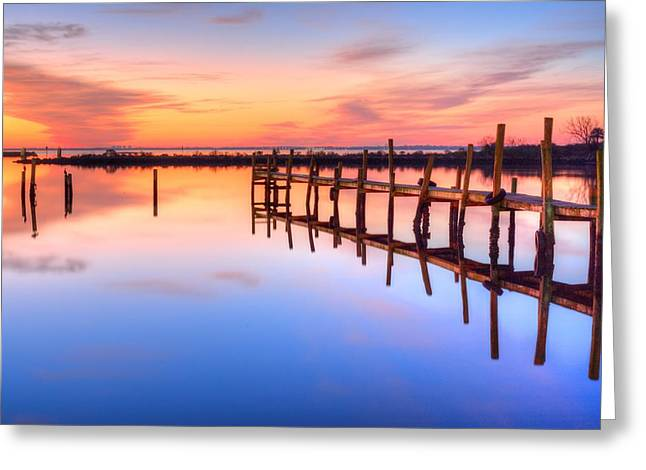 Surises Greeting Cards - Electric Sunrise  Greeting Card by JC Findley