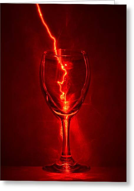 Exposure Greeting Cards - Electric Wine Greeting Card by Brad  Andrews