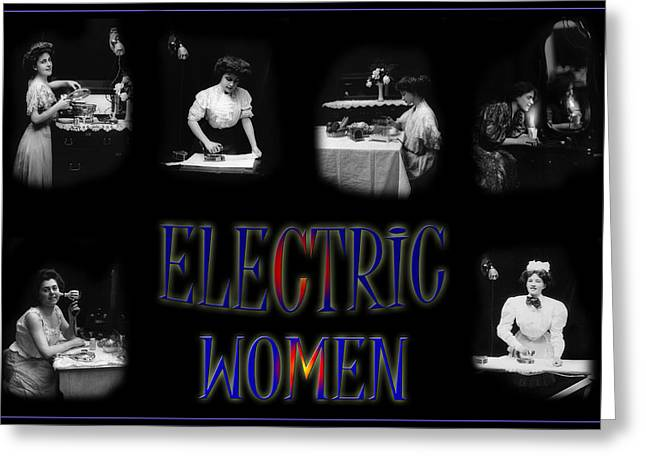 Hydro Greeting Cards - Electric Women Greeting Card by Andrew Fare