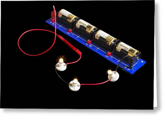 Battery Pack Greeting Cards - Electrical Circuit Greeting Card by