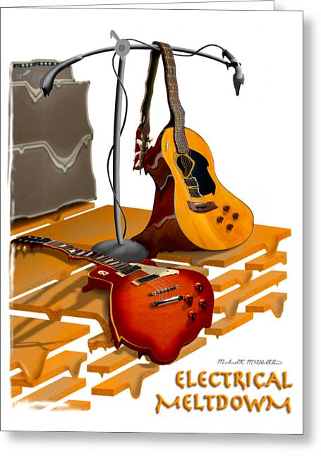 Shirt Digital Greeting Cards - Electrical Meltdown SE Greeting Card by Mike McGlothlen