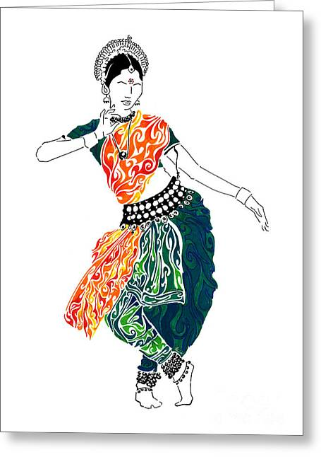 Abstract Movement Greeting Cards - Elegance Greeting Card by Anushree Santhosh