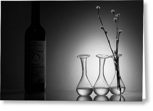 Artist Photographs Greeting Cards - Elegance. Light and Shadow Greeting Card by Dmitry Soloviev