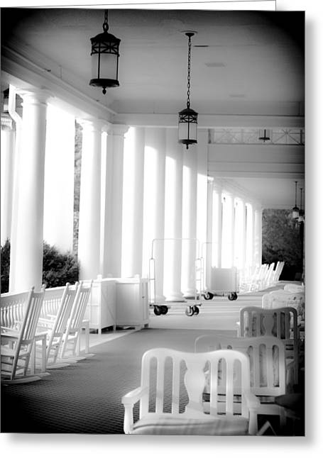 White Photographs Greeting Cards - ELEGANCE of ARCHITECTURE in B and W Greeting Card by Karen Wiles