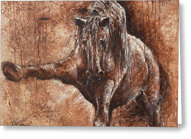 Barok Greeting Cards - Elegance of Joy Greeting Card by Paula Collewijn -  The Art of Horses