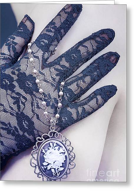 Lace Glove Greeting Cards - Elegance Greeting Card by Svetlana Sewell