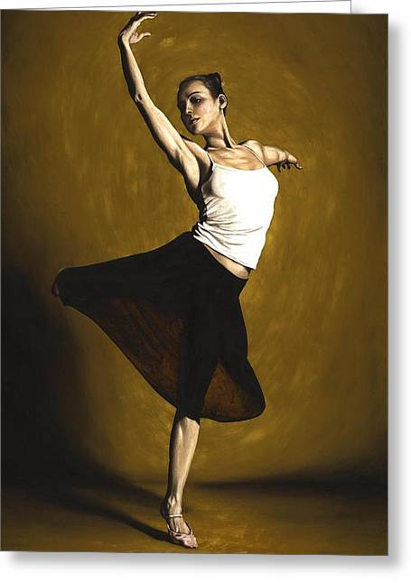 En Pointe Greeting Cards - Elegant Dancer Greeting Card by Richard Young