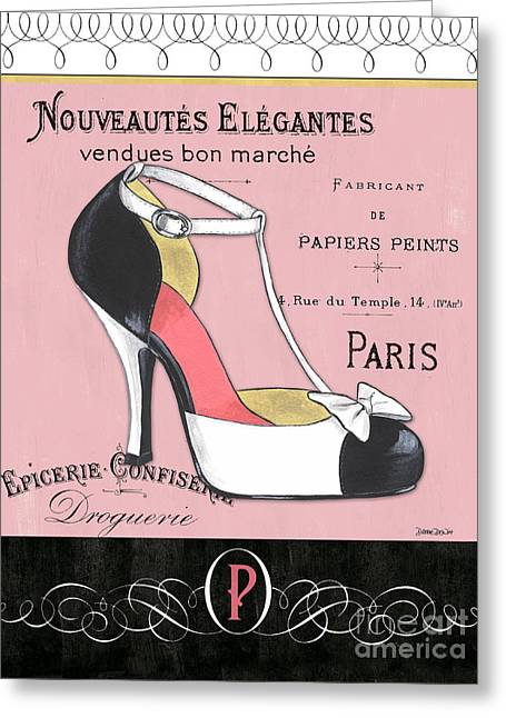 Elegant French Shoes 1 Greeting Card by Debbie DeWitt