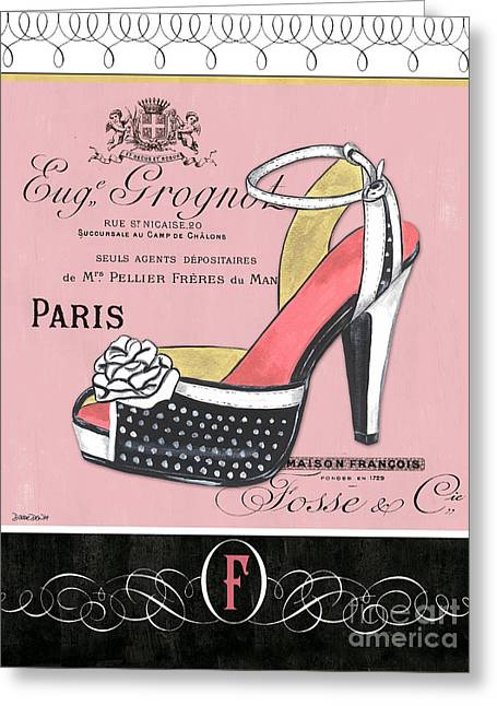 Elegant French Shoes 2 Greeting Card by Debbie DeWitt