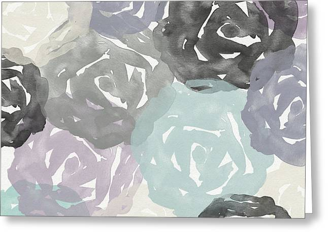 Elegant Roses- Art By Linda Woods Greeting Card by Linda Woods